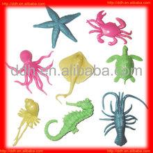 plastic Fun stretch sea animal toy/Novelty cheap toy