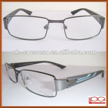 New style full rim metal frame w/ acetate engraved temples