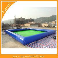 inflatable blue pvc rectangle hot swim pool