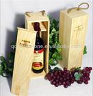 Pine single wooden wine box