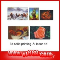 High quality manufacture hologram 3D solid printing laser art