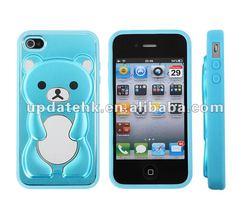 3D Rilakkuma Gift Cute Bear Phone Case, Hard Case Cover for iPhone 4 4S