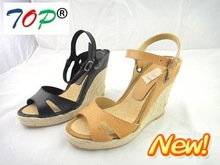 2012 new spring and summer jutes wedge sandals