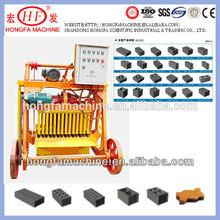 QMJ 4-45 mobile CHB block machine in Philippines / QMJ4-45 concrete hollow brick making machine for sale in Philippines
