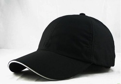 custom adjustable blank black cap