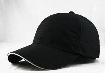 custom adjustable blank black cap
