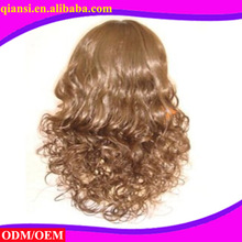 vingin unprocessed human hair Charming lady machine woven lace wigs
