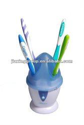 Portable UV toothbrush sanitizer