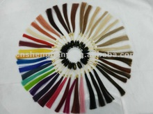 synthetic hair color ring,human hair color ring,color chart /samples