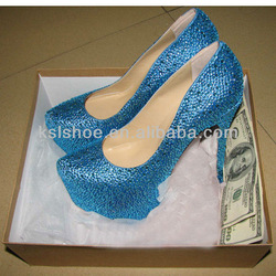 2013 new colorful free shipping elegant lady sexy crystal fashion shoes hot selling large size dress shoes