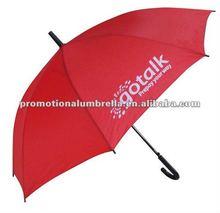 "23"" custom printed promotional curved plastic handle gift rain umbrella"