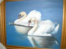Swan animal canvas animal oil painting