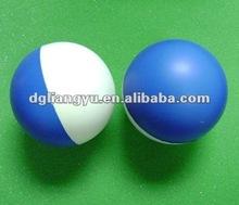 blue and white PU foam stress ball