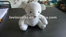 stuffed pure white teddy bear toys plush