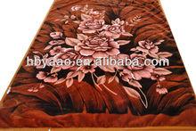 Printing Raschel 100% Polyester 2 sides korean mink blanket
