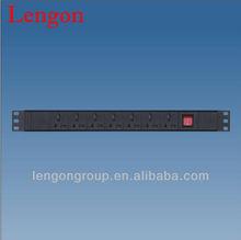 7 way Universal Type power strip with light switch