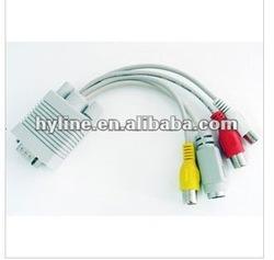 vga to rca AV splitter/converter/adapter cable , vag male/female composite cable