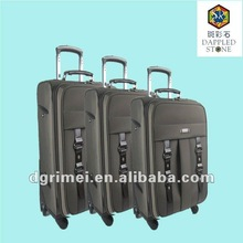 Comfortable 1680D bulit-in aluminum trolley travel luggage