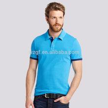 Plain men's cotton bulk polo shirt from garments factory