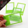 faible prix de promotion publicitaire en plastique loupe format carte de crédit loupe