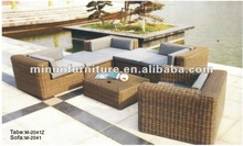 M-2041 Most popular outdoor rattan/wicker antique cane sofa