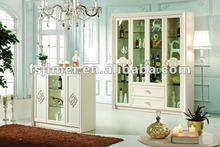 White modern home bar cabinet