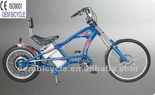 24 inch hot sale favourite blue electric motor chopper bike
