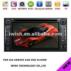"2dins 7"" HD digital touchscreen 2006-2010 Kia cerato car dvd"