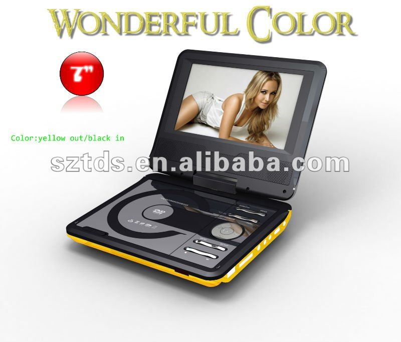Glasses-free 3D 7'' Portable DVD Player 2D/3D