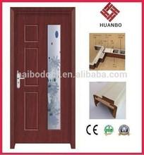 cheap wooden door insert with glass