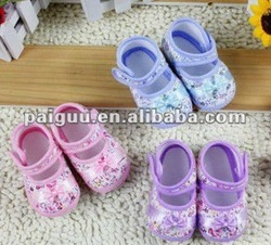 lovely cotton baby shoe, infant shoe,skid proof baby shoe