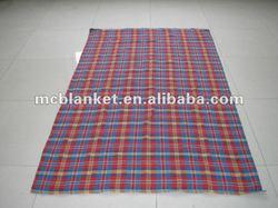tartan thread blanket