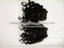 2012 Fashion!! Candy curl natural color Chinese hair in stock