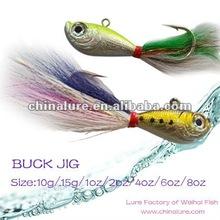 Bucktail Jig Head 10g/15g/1oz/2oz/4oz/6oz/8oz Fishing Lure Jig head Fishing tackle