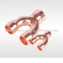 Copper Y branch tee pipe fitting for air conditioner parts