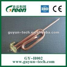Copper heating element MgO hole on round flange