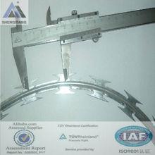 Galvanized Razor Wire Flat wrap/Pvc coated razor barbed wire