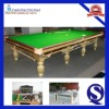 Concept Designer Fashion Pool Center 12ft Slate Solid Wood Snooker Table, Steel Cushion Optional With Aramith Ball, Cue, 6811