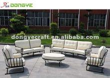 White Outdoor Furniture Wrought Iron Sofa set