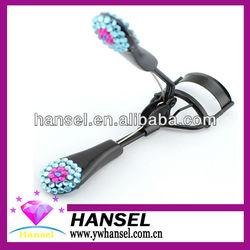 newest small flower design mini free tweezers eyelash curler