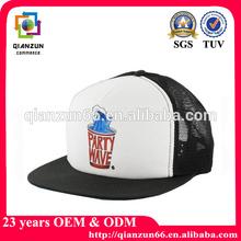 Custom fitted flat brim embroidered plastic snapback hat