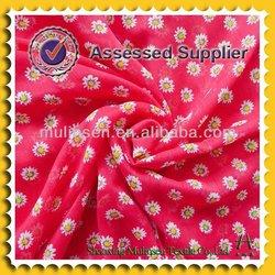 Woven sun flower design chiffon quick dry polyester fabric