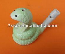 2014 hot sale cute ceramic snake whistles , cheap gift