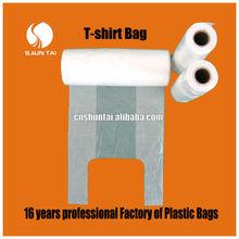 multicolored household PE T-shirt plastic packaging bag
