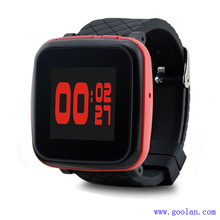 watchband 1.5 inch private model from Goolan Mini clip mp4 music player with sport design, pedometer function with watchband
