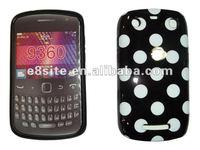 Dot IMD Printing TPU Gel Cover Case For BlackBerry 9360 9350 9370