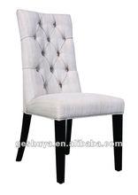 Modern Design Upholstered White Linen Dining Chair