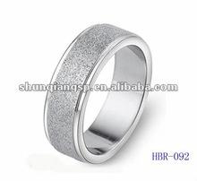 High Polished Titanium or Stainless Steel Sandblasting Ring