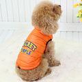 Venta al por mayor 100% de algodón caliente perro de color naranja chaqueta, ropa para perros, pelaje del perro