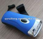 plastic led dynamo flashlight